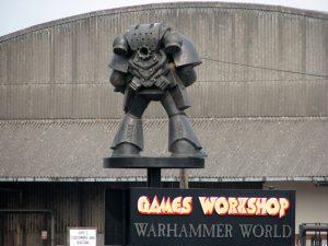 wejście do fabryki producentów warhammera - game workshop